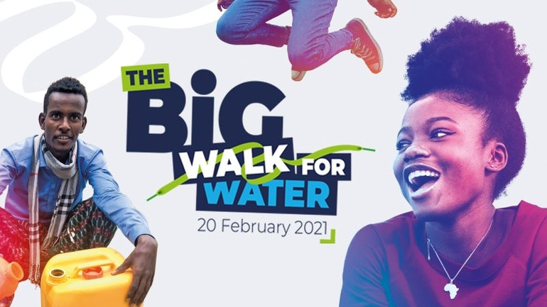 Cafod walk for water appeal banner